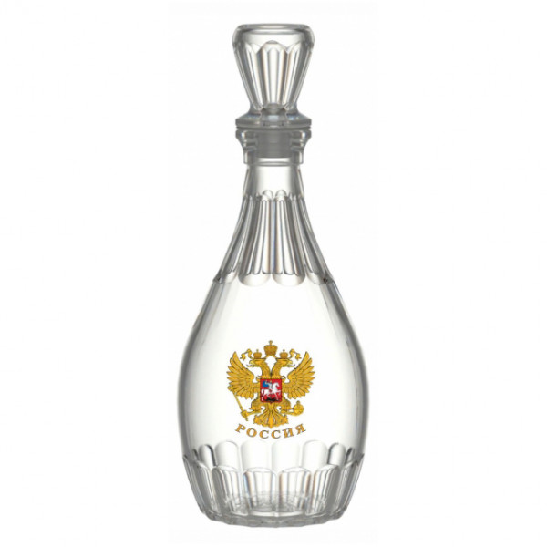 """Karaffe Dionysos, 500 ml, """"Wappen von Russland"""""""