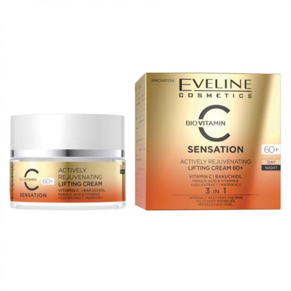 """Eveline - """"Sensation C"""", Gesichtscreme, 60+"""