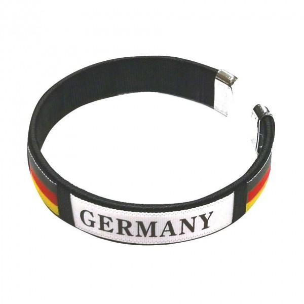 "Armband ""Fussball"", elastisch ""Germany"", schwarz"