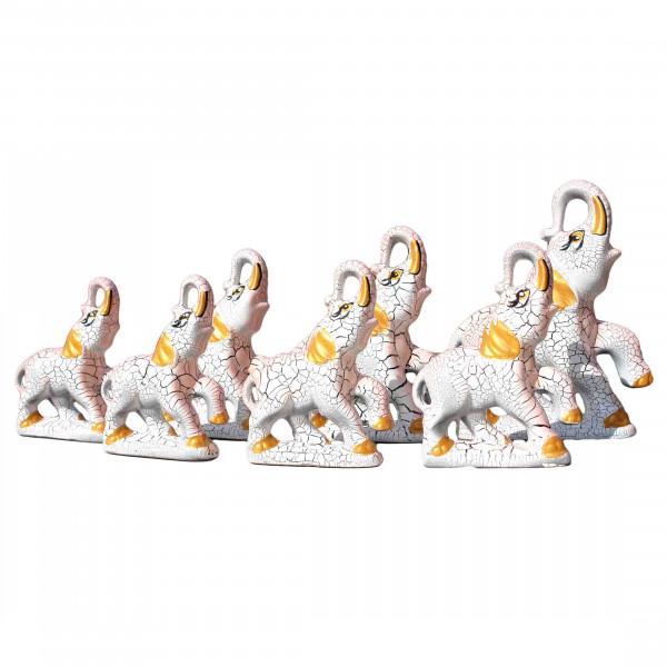 "Figurenset "" 7 Elefanten"", rosa, 12-19 cm"