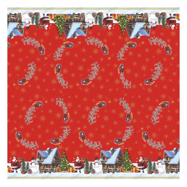 Tischdecke М, Weihnachten (Rot) , 20x1,4 m