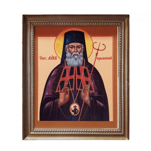 "Ikone mit holz Rahmen ""St. Luka"" 23,5x27,5 cm"