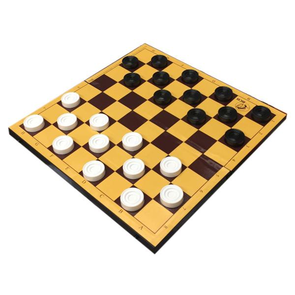 "Brettspiel ""Dame"", in Plastikbox, 30x30 cm"