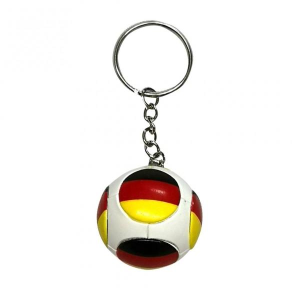 """Schlüsselanhänger """"Fussball"""", """"Flagge Deutschland"""", plastik"""