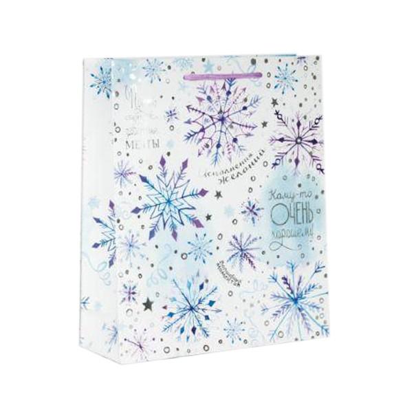 """Geschenktasche, S, 23x18 cm, """"Новогодние пожелания"""""""