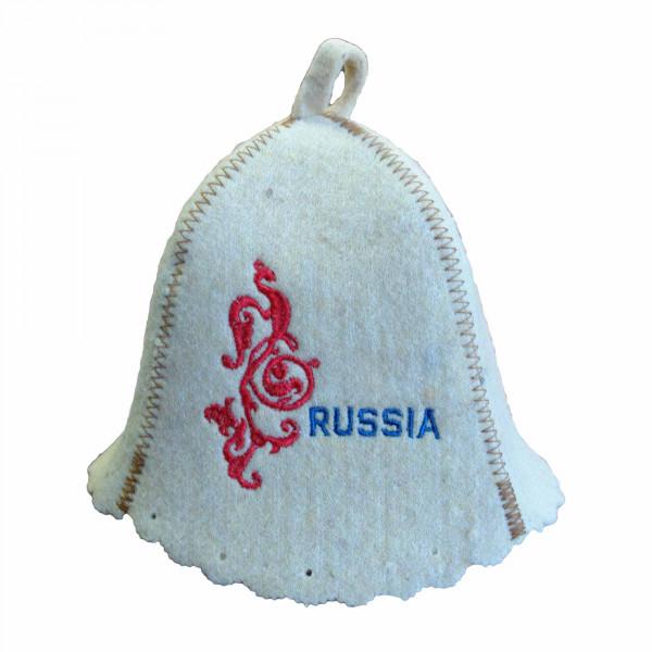"Filzhut für Sauna, ""Russia"""