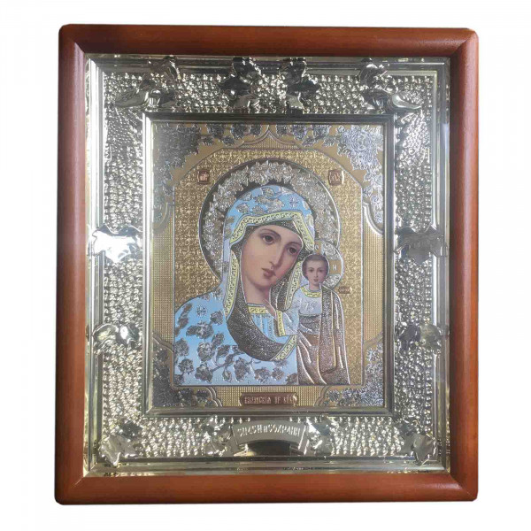 "Ikone mit Holzrahmen, ""Kasanskaja"", 15x18 cm"