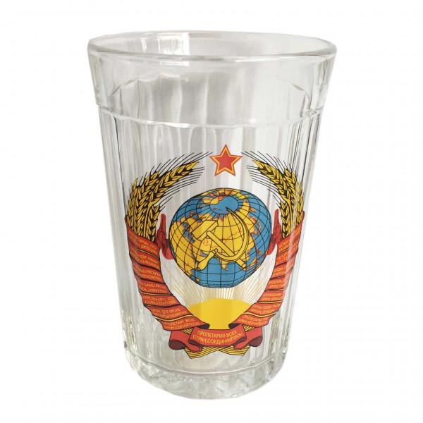 """Glas """"Granenyj"""", 250 ml, """"Wappen von USSR"""""""