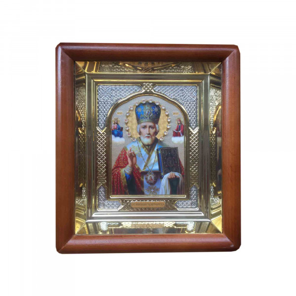 "Ikone mit Holzrahmen in Geschenkbox, ""S. Nikolaj"", 10x12 cm"