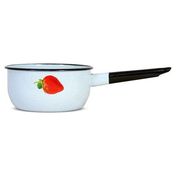 """Kochtopf emailliert """"Erdbeere"""" mit Griff, 1,5 L"""