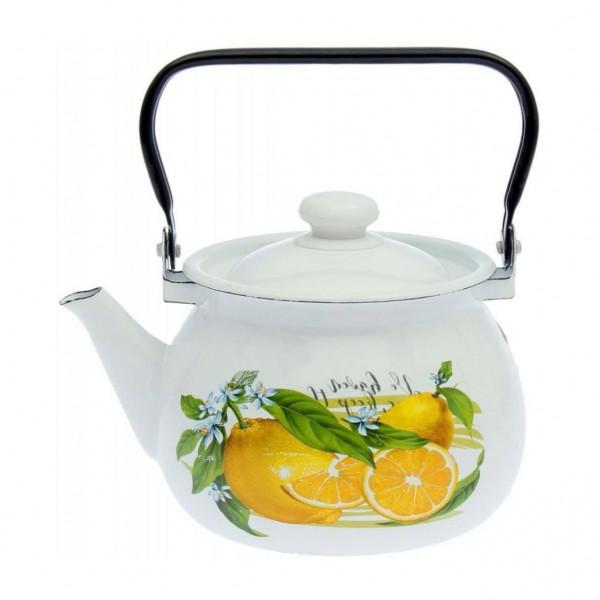 """Teekanne, emailliert, 3,5 L """"Zitrone"""""""