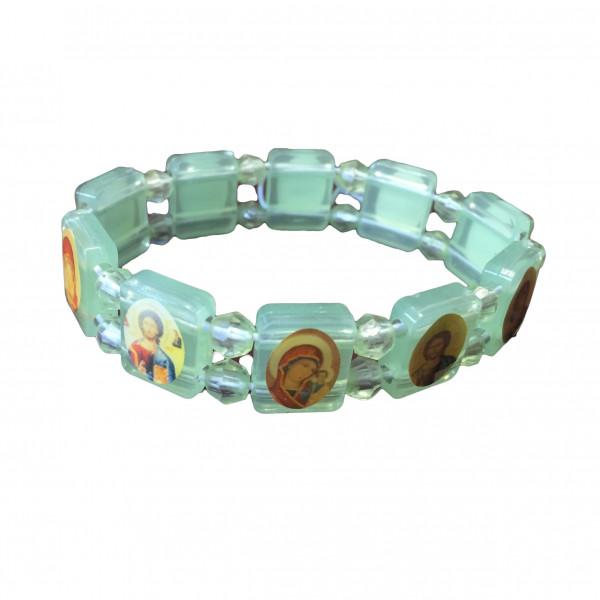 Armband aus Plastik mit Ikonen, grüne