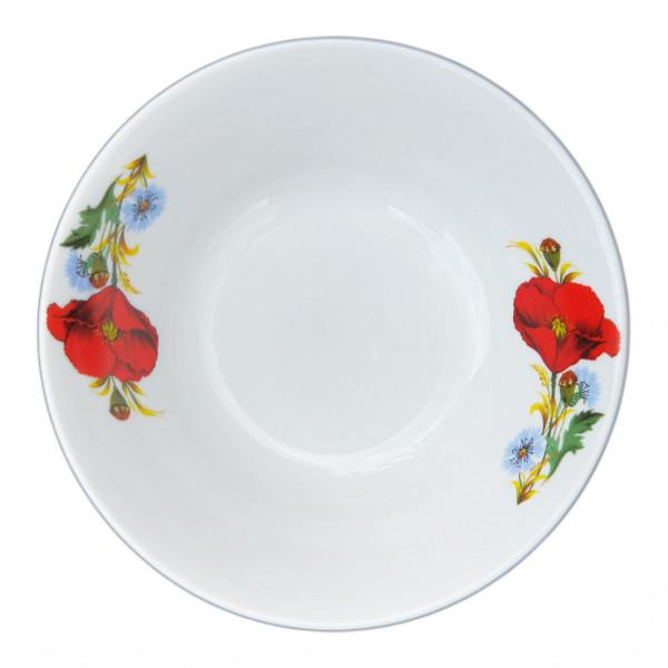 """Salatteller aus Porzellan 600 ml """"Nostalgie"""" - """"Rote Mohnblumen"""""""