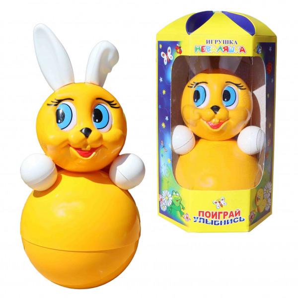 """Stehaufpuppe """"Hase gelbe"""", 22 cm"""