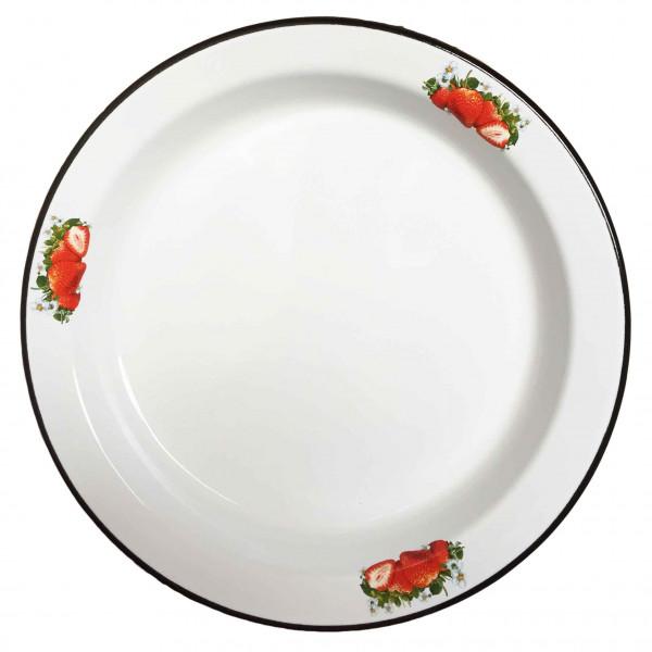 """Tablett, emailliert, """"Erdbeere"""" 36 cm, 2,0 L"""