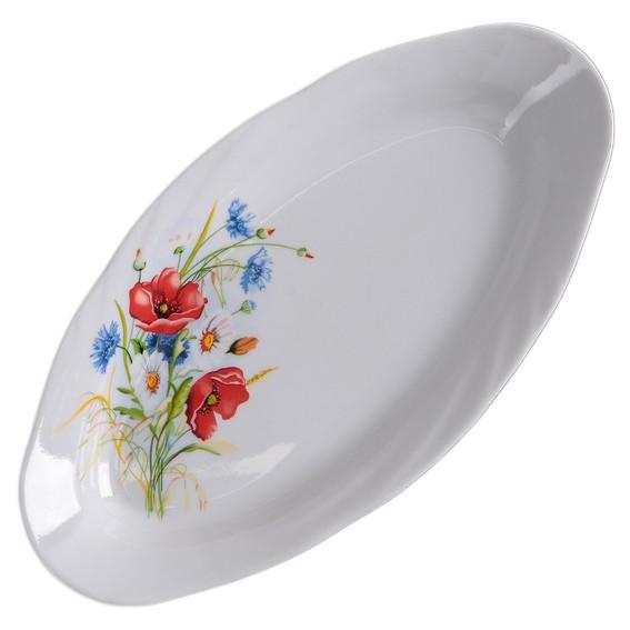 """Teller oval aus Porzellan 25 cm """"Nostalgie"""" - """"Sommerwiese"""""""