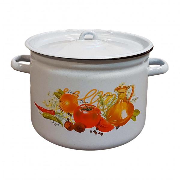 """Topf, emailliert """"Italienische Küche"""", 7,0 L"""