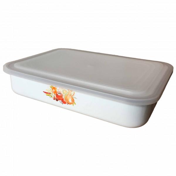"""Behälter emailliert """"Italienische Küche"""", 2,5 L, mit Plastikdeckel"""