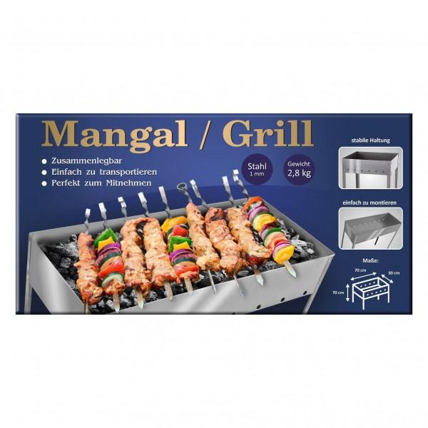 "Mangal-Grill ""Family"", 70x70x30 cm, Stahl 1 mm"