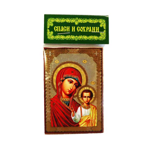 Ikone (Holz), Kasanskaja, 6x9 cm