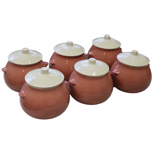 """Keramiktopf """"Dekor"""", """"Lila"""", 650 ml, Set aus 6 St."""
