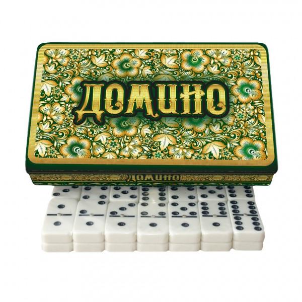 "Brettspiel ""Domino - Smaragd"" in Metalbox"