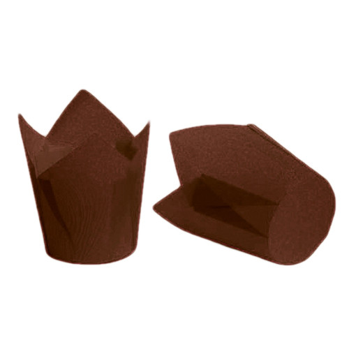 "Backform ""Tulpen"", Braun, 50x55/80 mm, Set - 100 St."