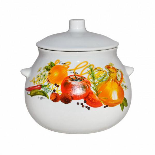 """Keramiktopf """"Dekor"""", """"Gemüse"""" 650 ml, Set aus 6 St."""