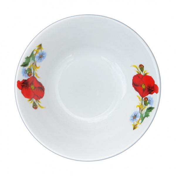 """Salatteller aus Porzellan 360 ml """"Nostalgie"""" - """"Rote Mohnblumen"""""""