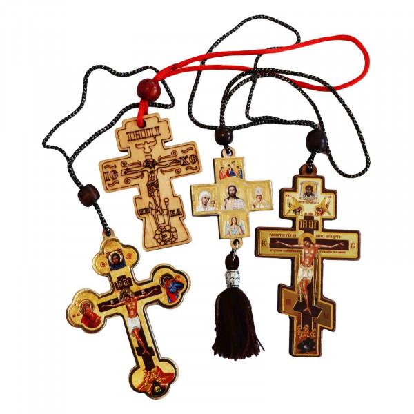 Kreuz aus Holz, Aufhänger für Auto