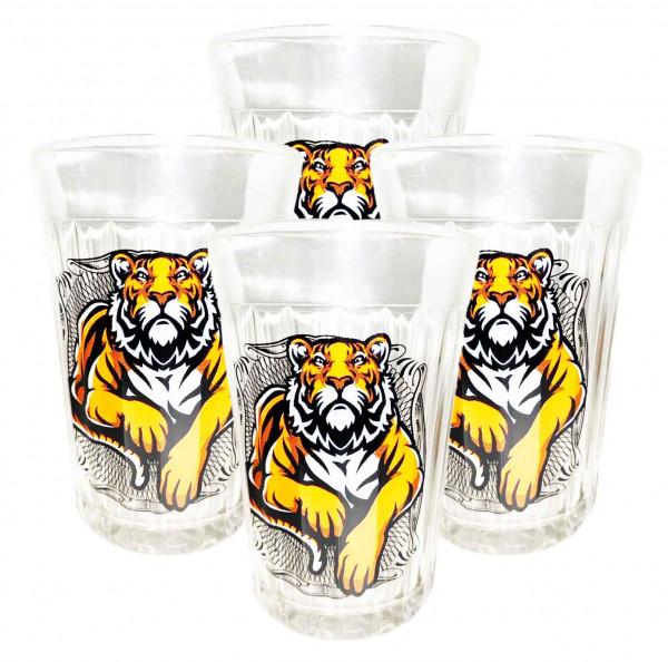 "Glas ""Granenyj"", 250 ml, ""Tigerzeit"" (Neujahrssymbol 2022)"
