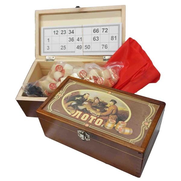 "Brettspiel ""Russkoe Loto"" in Holzbox"