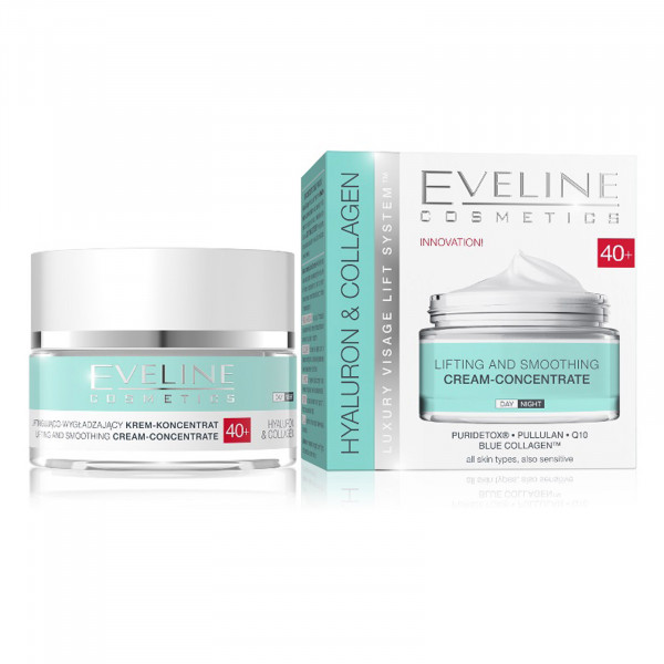 "Eveline ""Hyaluron & Collagen"" Gesichtscreme 40+, 50ml"