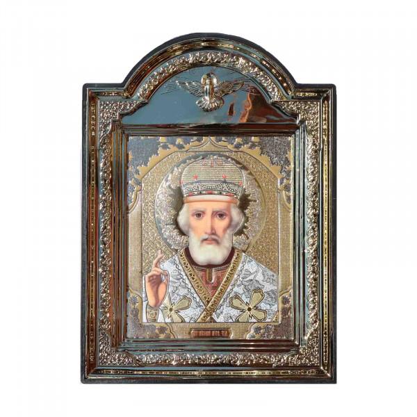 """Ikone (Kunststoff), """"Nikolaj"""", 10x12 cm"""