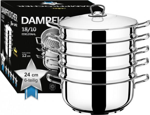 """Dampfkocher """"Silber Series"""", 24 cm"""