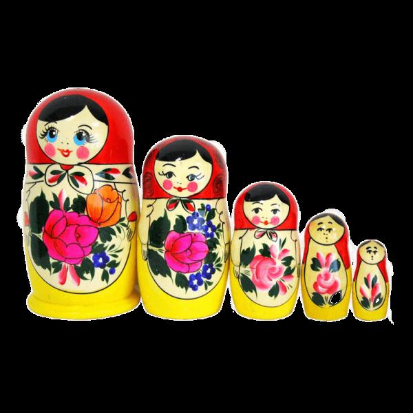 """Matröschka """"Semönovskaja"""", 12 cm (5 Figuren)"""